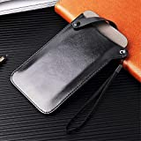 DFV mobile - Holder Ultra Lightweight Belt Case with Snap Fastener for Alcatel One Touch Pop C7 Dual 7040 - Black