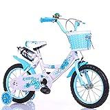 DTTX002 Einfach Und Einfach, Fahrrad/Jungen- Und Mädchenfahrrad, Sicheres Persönliches Fahrrad Der Kindheit, 2-9-Jähriges Babyzusatzradfahrrad Zu Tragen,Blau,88cm