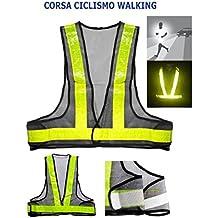 Giubbotto - Gilet Catarifrangente riflettente da corsa o bici
