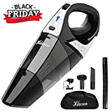 Hikeren Rechargeable Cordless Handheld Vacuum Dual Purpose, Lightweight Portable Vacuum Cleaner with 12-Volt