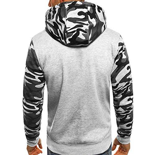 Imagen de yanhoo suéter de los hombres camuflaje de los hombres con capucha suéter de manga larga top camuflaje para hombre talla grande pullover sudadera con capucha de manga larga tops blusa alternativa