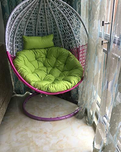 ZOUDIN Oeuf Suspendu Hamac Chaise Coussins sans Stand,Coussin pour Swing Nest épaisse Siège Suspendu Retour De Chaise avec Coussin-f D105cm(41inch)