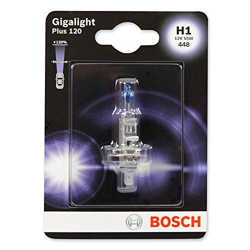 BOSCH Glühlampe Gigalight Plus 120 Xenongas H1, 12V/55W, P14,5s, Anzahl 1