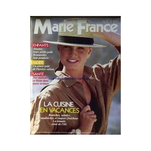 MARIE FRANCE [No 354] du 01/08/1985 - ENFANTS - TRICOTEZ - MODE - ARRIERE SAISON - SANTE - LA CUISINE EN VACANCES.