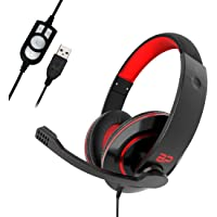 BigPassport USB Headphone Headset with inbuilt Mic & Sound Controls for Computer & Laptop     3D Surround Sound   (Model…