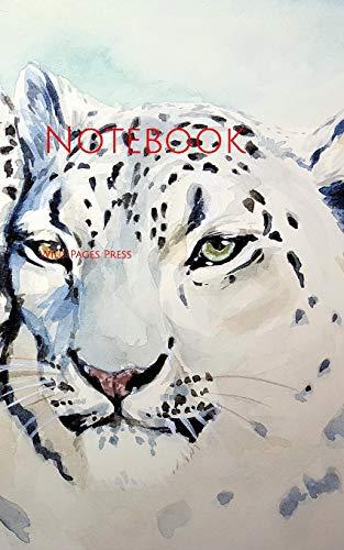Notebook: leopard cat beast watercolor art painting paper lepardess cats feline veterinary kitten -
