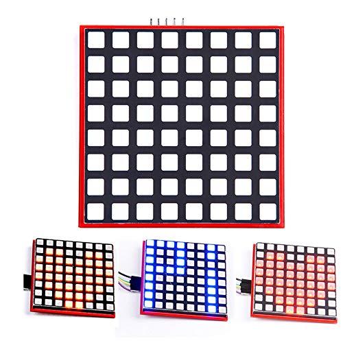 iHaospace Full Color Dot Matrix RGB LED Display Screen Board 8 * 8 Dot Matrix Module for Raspberry Pi 3/2/B+ Arduino STM32 Full-dot-matrix-display