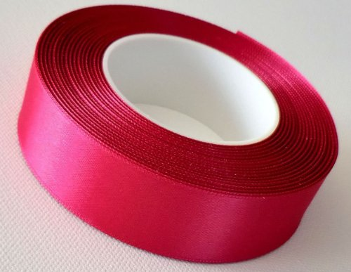 SATINBAND 25m x 25mm FUCHSIA - PINK Schleifenband SATIN Geschenkband DEKOBAND