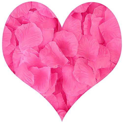 tel Künstliche Rosenblätter Seide Blume für Hochzeit Konfetti Party Home Décor Valentine Day Rose ()