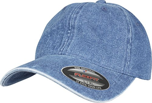 Flexfit Low Profile Denim Cap, Blue, one size -