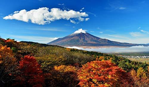 ADVLOOK Puzzles De 1000 Piezas para Adultos Monte Fuji Japon Mejora El Cerebro Y Mejora La Imaginación. El Mejor Juguete Madera Ecológica
