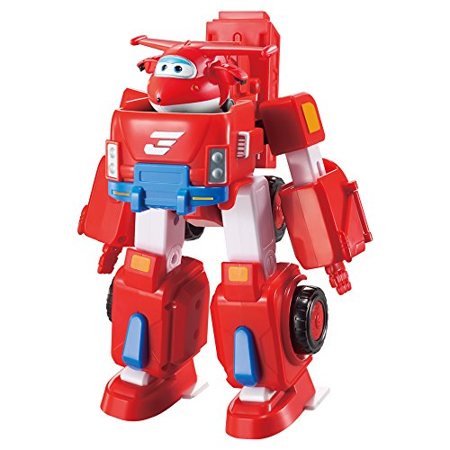 Super Wings - Vehículo transformable Jett & figura transformable (ColorBaby 85138)
