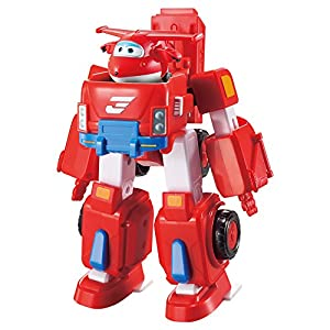 Super Wings Vehículo transformable Jett & figura transformable (ColorBaby 85138)