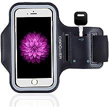 DBPOWER Fascia da Braccio Sportiva Sweatproof Cinturino Regolabile con Cuiffia Slot e Porta Chiavi per iPhone 6 Plus/iPhone 6s Plus/Galaxy S6/Huawei P8/Honor per Corsa, Jogging, Ciclismo, Allenamento, e