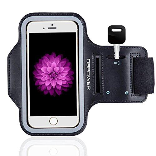 DBPOWER Fascia da Braccio Sportiva Sweatproof Cinturino Regolabile con Cuiffia Slot e Porta Chiavi per iPhone 6 Plus/iPhone 6s Plus/Galaxy S6/Huawei P8/Honor per Corsa, Jogging, Ciclismo, Allenamento, e Esercizio