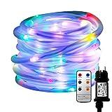 MaLivent 10M 136er LED Lichtschlauch als Weihnachtsdeko-Lichterschlauch Bunt Mehrfarbig-Lichterkette Innen/Außen-Niederspannung-wasserdicht IP65 8 Modi Fernbedienbar Weihnachten weihnachtsbeleuchtung