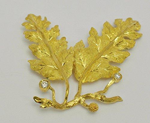 ooak-goldbrosche-mit-eichenblttern-gold-750-000-kt-18