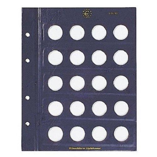 VISTA Ergänzungsblätter Blanko für VISTA Classic Euroalbum für 2 € (Euro) Münzen