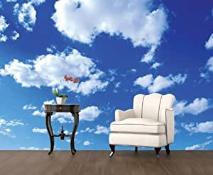fototapete papier heavenly 400x280cm himmel wolken luft wei blau g nstig. Black Bedroom Furniture Sets. Home Design Ideas