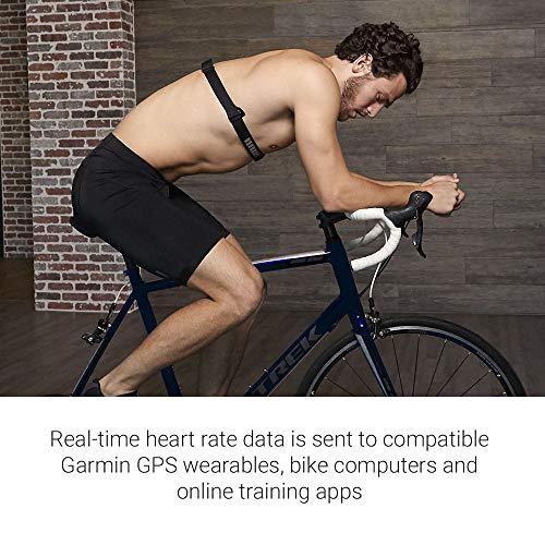 Garmin Unisex - Adultos HRM Premium de frecuencia cardíaca Cinturón de Pecho Dual Basic, Datos de frecuencia cardíaca en Tiempo Real Via Bluetooth Low Energy, Ant+, Negro, One Size