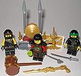 Lego Ninjago Figuren 3er Set Figuren und Waffenständer und bmg2000 Aufkleber
