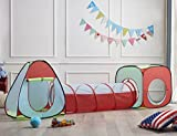 Children Play Tent With Game Tunnel Set Indoor&Outdoor Playhouse 3 in 1(BALLS NOT INCLUDED).