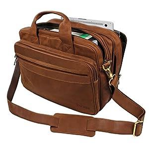 5a29117e6c STILORD 'Leopold' Grande borsa in pelle da Insegnante Professore  Portadocumenti a tracolla per Ufficio Lavoro A4 raccoglitori in cuoio Uomo  Donna trova ...