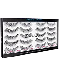 EmaxDesign 10 Pairs Fake Eyelashes, Multipack Natural 3D False Eyelashes – Fashion Eyelashes Extension For Makeup.