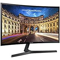 Samsung C27F396 Monitor Curvo, 27'' Full HD, Base a V, 1920 x 1080, 60 Hz, 4 ms, Freesync, D-sub, HDMI, Nero