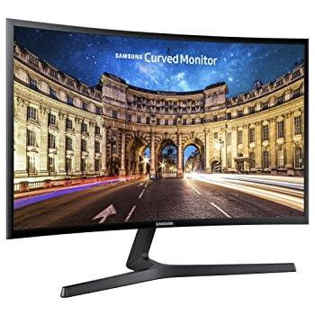 Samsung C24F396 Monitor Curvo, 24'' Full HD, 1920 x 1080, 60 Hz, 4 ms, Freesync, Nero