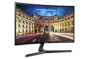 Samsung C24F396 Monitor Curvo, 24'' Full HD, Base a V, HDMI/D-Sub, 60 Hz, 4 ms, Freesync, Nero