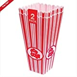 Traditional Candy Stripe Popcorn Holder - twin pack for sale  Delivered anywhere in Ireland