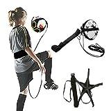 LeeIU Fußball Trainer Fußballpaket für Training,Übergeben Ballkontrolle Trainingsgeräte,Schwarz.