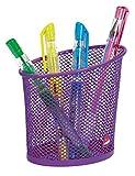 Alba MESHCUP P Pot à Crayons en Métal Mesh Violet