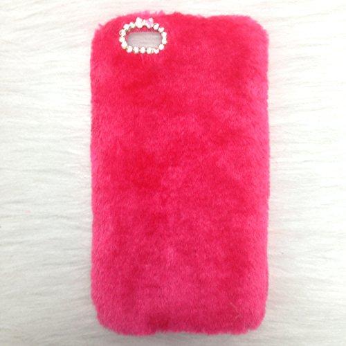 Pour Coque iPhone 5/5s , iNenk® Rex Imitation laine chaude téléphone Shell mode luxe marée couverture Protection affaire manchon Bowknot pour femmes-Noir rouge