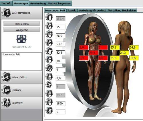 Körperfett-Software Body-Fat Manager Expert Edition (BIA & Caliper Messungen)