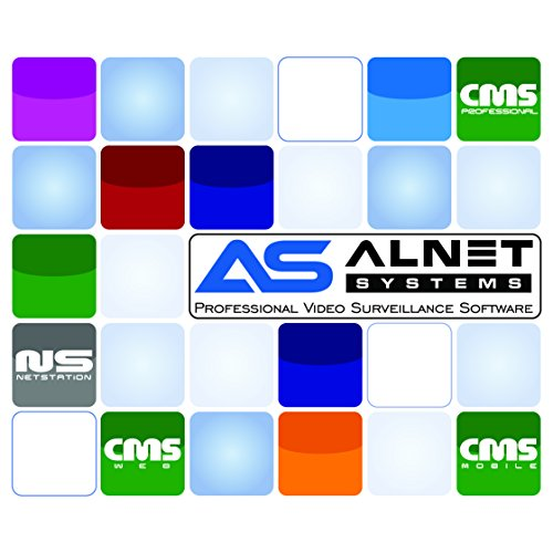 Alnet Systems 16 Camera Netstation IP Camera Network Video Recording Software USB License
