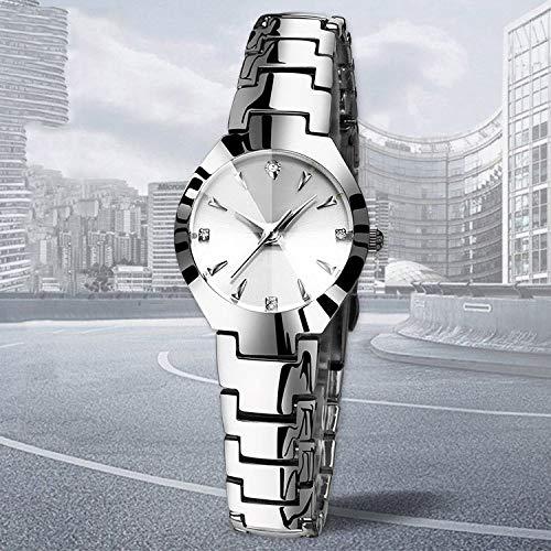 Preisvergleich Produktbild RUIMA Quarzuhr-Modestudentenart und weise des authentischen Paares des Stahlgurtes Wasserdichte Uhrmänner Kalender beiläufige (Farbe : Style B)