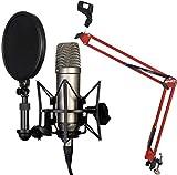 Rode NT1-A Set Kondensator Mikrofon + KEEPDRUM NB35 RD Rot Gelenkarm Stativ Red