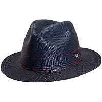 RACEU ATELIER Sombrero Panamá Cuenca Azul Marino - Sombrero Mujer - Tejido  a Mano - Cuenca 54bd247500c