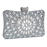 Abendtasche Damen Diamant Clutch Bag Kette Shiny Strass Handtasche Klein Umhängetasche für...