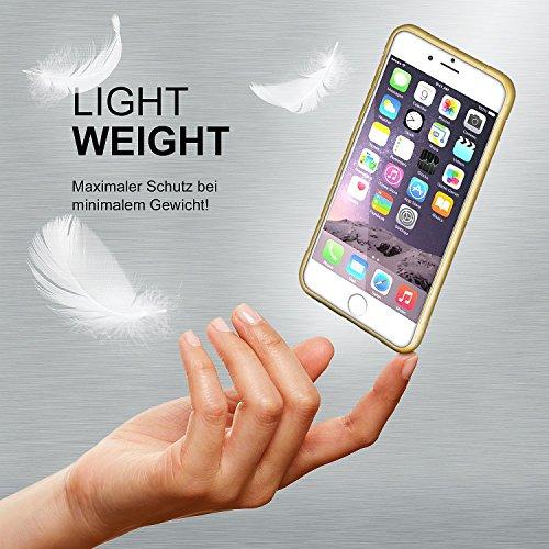 iPhone 6S Hülle Silikon Transparent Schwarz [OneFlow Cube Back-Cover] Ultra-Slim Silikonhülle Dünn Handy-Hülle für iPhone 6/6S Case TPU Schutzhülle GOLD-BROWN