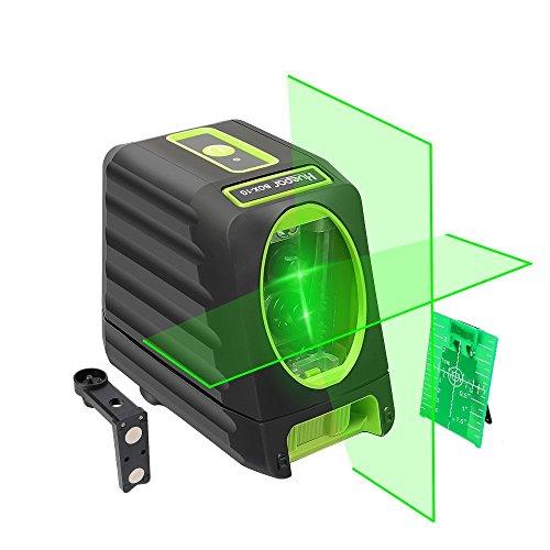 Huepar Línea láser de alineación autonivelante, nivel láser verde BOX-1G Nivel láser de línea cruzada para exteriores de 45m con una selección de haz láser vertical y horizontal de 150 °
