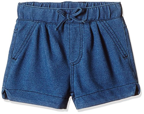 Fox Baby Girls' Shorts  (Jeans and Blue_18-24 months_310543)