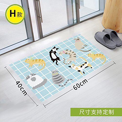 Stick Slip Sticker Toilet Scrub Toilet Waterproof Gummed Paper Twill Bathroom Glass Pad To Remove Environmental Protection, 90 * 60Cm,Seven -