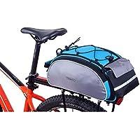 Huntvp Gepäckträgertasche Fahrrad Hintsitz Trunkbag Multifunktional Fahrradtasche Satteltasche Wasserabweisend Reparatur Set Hochwertig Kofferraumtasche mit Schultergurt und Reflektierendes Schild