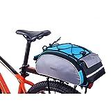 Huntvp Fahrradtasche Multifunktionale Fahrrad Gepäckträger Frarradschnalletasche mit zwei Fäche geeignet
