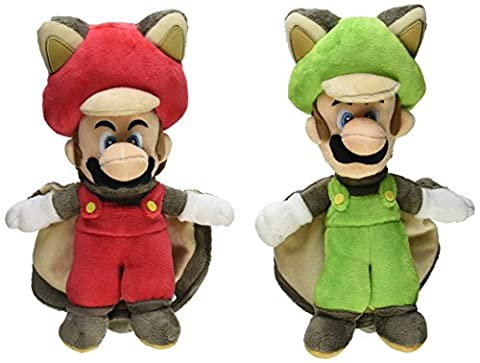 Little Buddy Mario Plush Doll Set of 2 - Flying Squirrel Mario & Squirrel Luigi by Little Buddy