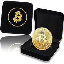 Moneta Fisica Bitcoin rivestita in Oro Puro 24 Carati. Un pregiato Cofanetto per un vero Pezzo da Collezione + GRATIS un E-Book contro i Cyber-Attacchi