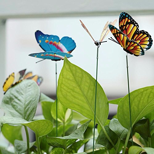 TYFOCUS 15 pcs/lot artificielle Simulation de décorations de jardin de papillons Papillon Piquets Yard Plante pelouse Décor Faux Butterefly Couleur aléatoire